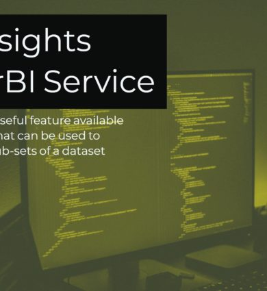Quick Insights is a very useful feature available in the PowerBI Service that can be used to get various insights to sub-sets of a dataset