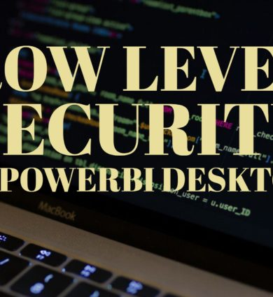 Row Level Security in PowerBI Desktop
