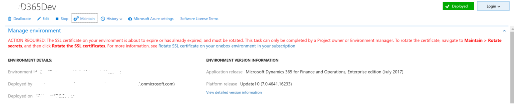 Rotate SSL Certificates in Microsoft Dynamics 365 for