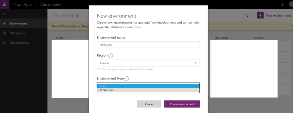 PowerApps Data Integration Project Setup and Connection Sets & Service