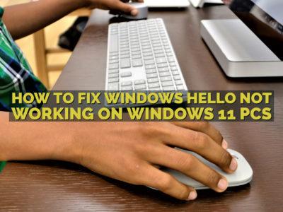 How to Fix Windows Hello not Working on Windows 11 PCs